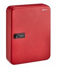 AdirOffice Red Steel 60 Key Secure Cabinet Combination Lock Key Storage Box