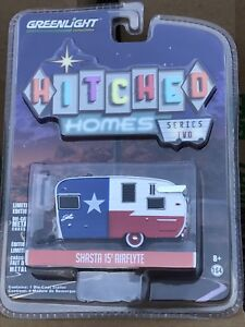 Greenlight  Hitched Homes  15' Shasta Airflyte   Camper.   Red, White & blue