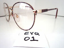 Vintage 1980s Sun/Eyeglasses Frame #Kim Grape Marble Eye-Q (Eyq-01)