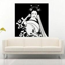 Wall Decal Sticker Vinyl Japan Geisha Dance Girl Ceremony National Kimono M883