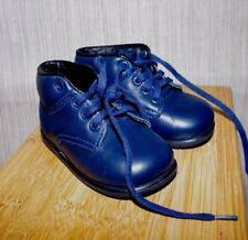 AMILIO USA  Navy Blue LEATHER Walking Shoes Classic Infants Toddler Size :3,5 D