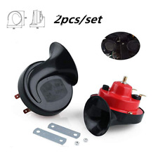 Loud Dual-tone Snail Universal Electric Horn 12V 105 dB 410HZ For Car Truck Auto