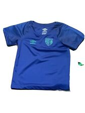 New Umbro FC Manchester Boys Extra Small 4/5 Blue Football/Soccer Jersey