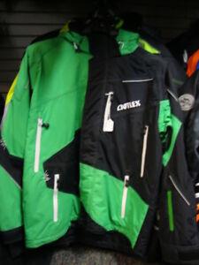 New Men's Castle Surge Snow Jacket - Black/Green - Large - # 94-13001