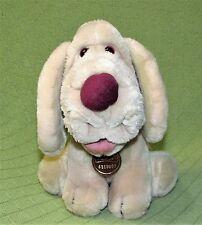 Vintage WRINKLES Puppy Dog 1981 Ganz Plush Stuffed Tan Sitting Collar Tag Number