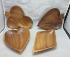 Set playing card suits wood nut, candy dishes. Philippines. Poker Night bowls