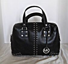 Michael Kors-Astor Medium Leather Satchel - Black