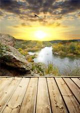 Scenic Vinyl Photo Backdrop Studio Prop Photography Backgrounds Wood Floor 5x7ft
