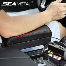 Us Retractable Car Central Console Armrest Storage Box Pu Leather Accessories X1