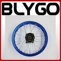 "BLUE 90/100 - 14"" Inch Alloy Rear Back Wheel Rim PIT PRO Trail BigFoot Dirt Bike"