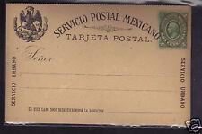 Mexico 2c Postal Stationery Postcard 1884, NM #3