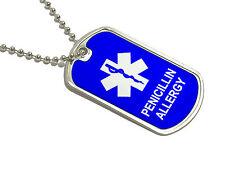 Penicillin Allergy - Military Dog Tag Keychain