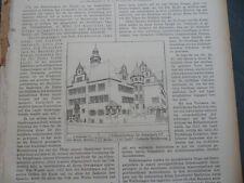 1904 Sdt. Bauzeitung 2 Schwabach Rothenburg