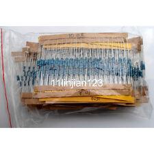 1/4W Metal Film Resistors Assorted Kit Set 56 Values (1 ohm~ 10M ohm) 1% 1120pcs