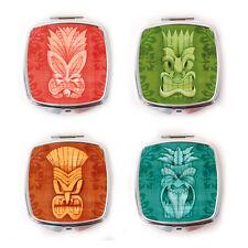 Tiki Máscara Espejo Compacto, Tiki Espejo de bolsillo, Espejo, Regalo, Tiki Tiki Tiki Girl