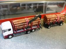 1/87 Herpa Scania R HL Holztransporter-Hängerzug unbedruckt 307383