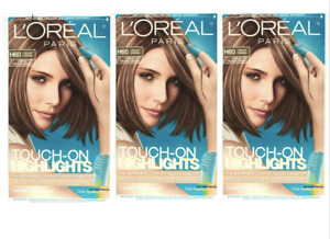3 Pack L'Oréal Touch-On Highlights H60 Creamy Caramel Light To Medium Brown Hair