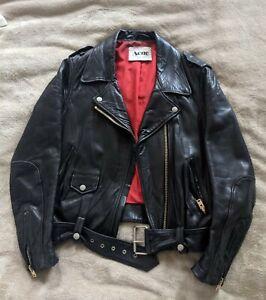 Acne Studios Mock Leather Biker Jacket Rose Gold Sz 6 Medium