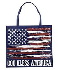 God Bless America Glow in the Dark Tote Bag (YS727) NEW Made of Nylon