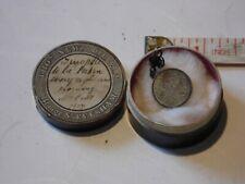 Fabulous miniature Lord's Prayer on Edward VII pendant in antique pill box