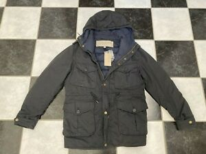 NWT 100% AUTH BURBERRY Black Quilted Down Filled Reversible Coat SZ M $995