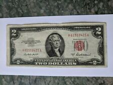 1953 A  $2 Note Two Dollar Bill Red Seal.
