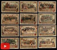 Chocolate trade cards c.1900 Paris France lot of 20 Art Nouveau scenes wonderful