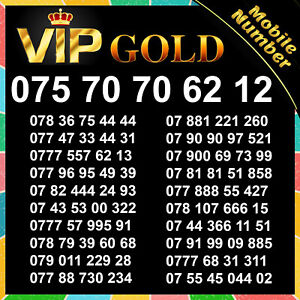 New VIP Gold Mobile Phone Numbers SIM Card Easy Platinum Number Diamond Vodafone