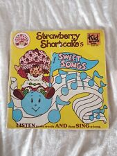 Vintage 1980 Strawberry Shortcake Sweet Songs booklet with record