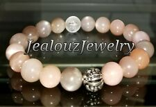 Sterling Silver Lucky Dragon Stress Relief Mix Moonstone Gemstone Yoga Bracelet