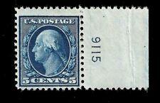 US 1917 Sc# 504 5 c  George Washington - Mint NH Plate# - Crisp Color
