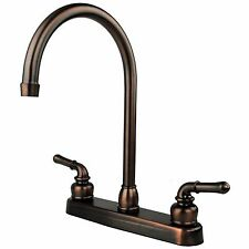 "Oil Rubbed Bronze RV Mobile Motor Home Kitchen Sink Faucet - 14.5"" Tall Spout"
