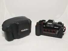 Nishika N8000 3D stereo 35mm film camera with case, and strap. G.W.O. Exc. cond.