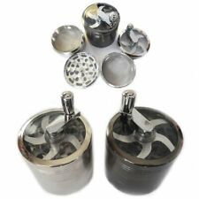More details for mill pocket grinder magnetic herbs tobacco metal 3,4,5 parts mesh spice crusher