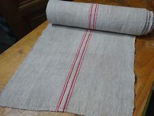 A Homespun Linen Hemp/Flax Yardage  9yds  x 21'' Red  # 10274