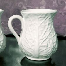 NEW White Cabbage Leaf Coffee MUG Tea CUP Majolica Portugal Block Subtil