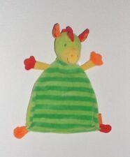 Beauty Baby Müller Drache Dino Dinosaurier grün & gelb Schmusetuch Schnuffeltuch