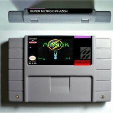 Super Metroid Phazon SNES Super Nintendo NTSC USA rom hack custom game cart