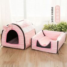 Pet Dog Cat House Beds Tent Sofa Mat Cushion Puppy Kitty Indoor house 2use