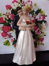 Wedding Cake Topper Decoración rubia novia y Brunet Novio Personalizado