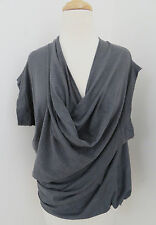 FIFTH AVE SHOE REPAIR draped knit top S sleeveless