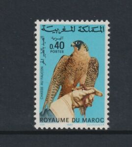 Morocco - 1980, Hunting with Falcon, Bird stamp - MNH - SG 544