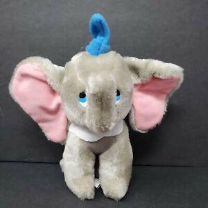 "Walt Disney Dumbo 8"" Plush Stuff Animal Gray Elephant Vintage Animated Film"