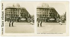 Stereo, Italie, Naples, fontaine de Neptune, place de la Bourse Vintage stereo c