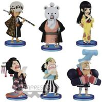 One Piece World Collectable Figure Wano Country 6 set law Bepo Okiku Robin JAPAN