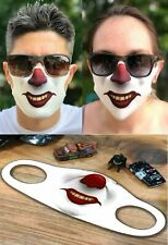 3D LASER PRINT SCARY CLOWN MASK FACE COVER BREATHABLE FABRIC WASHABLE REUSABLE