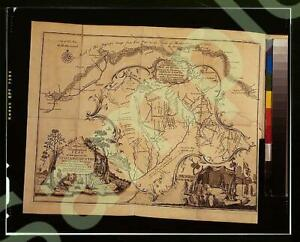 PHOTO,General Map of Country on Ohio & Muskingham,Indians of North America 8475