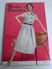 magazine Modes et Travaux n° 680  Août 1957 + patron
