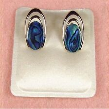 Paua Jewelry - Pd Plated Oval Clip On Earrings (PE122)