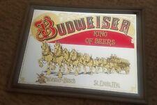 Anheuser Busch Budweiser Collectible Large Bar Mirror Clydesdales